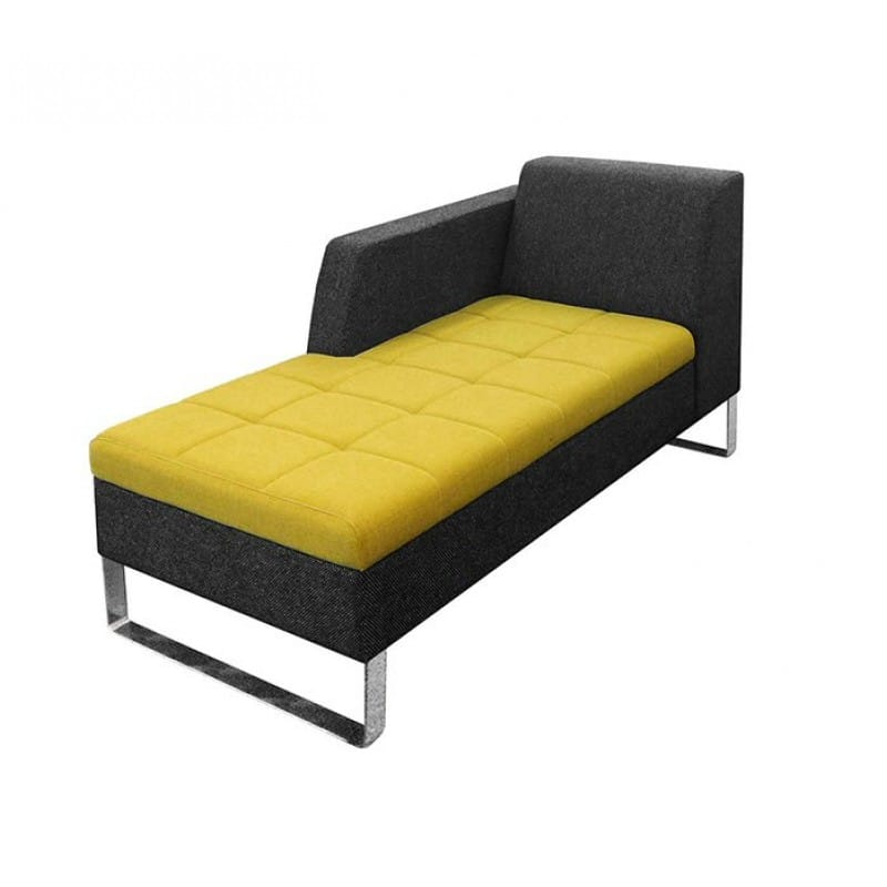 Office chaise lounge chair leather chaise lounge chair for Baroque chaise lounge sofa