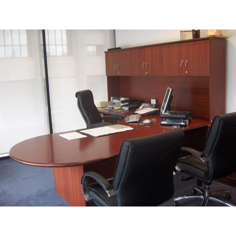 Timber Office Furniture ~ Adept timber veneer executive setting bulb end desk