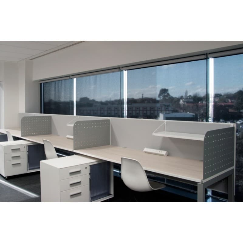 Aluminium Partitions Product : Perforated metal divider screens adept office furniture